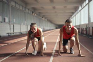 Athletics boy and girl